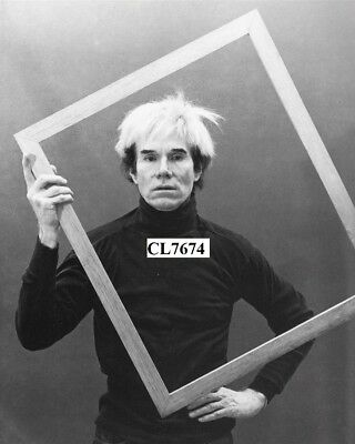 Andy Warhol Posing with a Picture Frame Photo