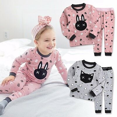 "Vaenait Baby Toddler Kid Boys Girls Clothes Pajama Set ""Swing Rabbit Cat"" 12M-7T"