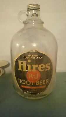hires rootbeer vintage 1 gallon bottle