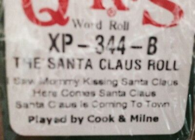The Santa Claus Roll 3  Selections New Long Play Christmas  Pianola Roll