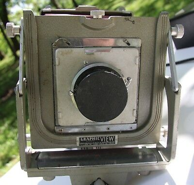 Vintage Graflex Graphic View Monorail Camera, Red Bellows