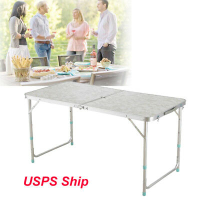 4' Folding Table Portable Indoor&Outdoor Picnic Party Dining Camp Tables Utility
