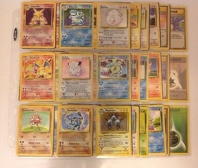 Complete Base Set Pokemon 102/102 In Played Condition