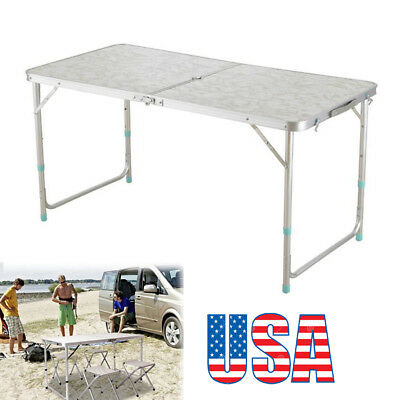 4' Folding Table Portable Plastic Indoor Outdoor Picnic Party Dining Camp
