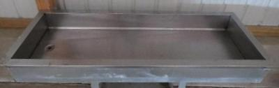 STAINLESS STEEL 68x24x8 DROP-IN ICE BIN cold food
