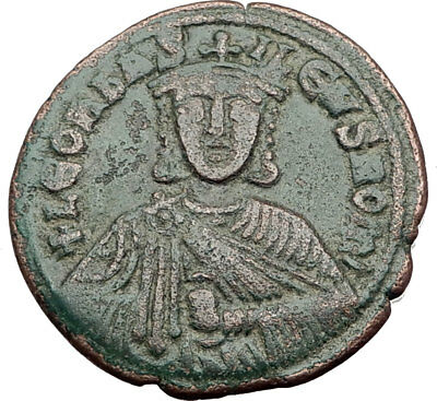 LEO VI the WISE 886AD Constantinople Follis Medieval Byzantine Coin i64830