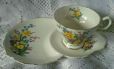 Beautiful Vintage  Queen Anne Spring Song Tennis Set Fine Bone China England