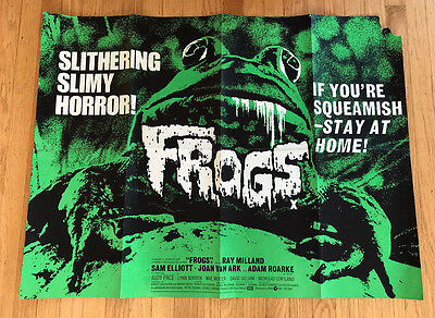 Frogs 1972 UK Quad movie poster 1970s horror sci-fi monsters Ray Milland