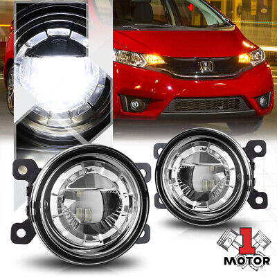 """Crystal Clear Lens 3.5""""Round LED Projector Fog Light Replacement OE Bumper Lamps"""