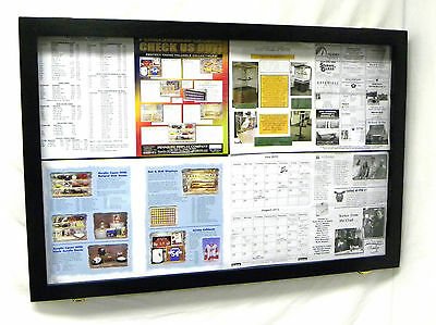Bulletin Board Wooden with Acrylic hinged Door