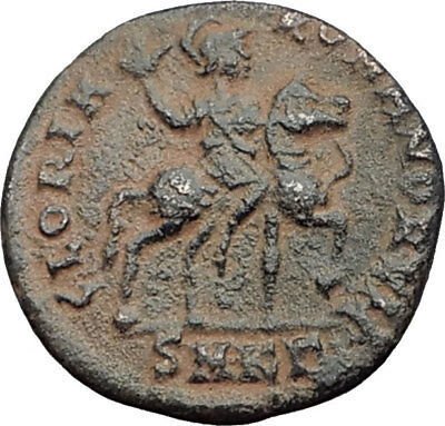 HONORIUS on Horse 392AD Original Genuine Authentic Ancient Roman Coin i64850