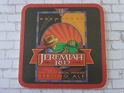 Beer Collectible Coaster ~*~ BJ'S Brewing Company Jeremiah Red ~ NationwideChain