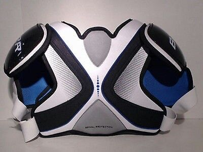 Bauer Challenger Hockey Shoulder Pads Sr Size S/p With Spinal Protection