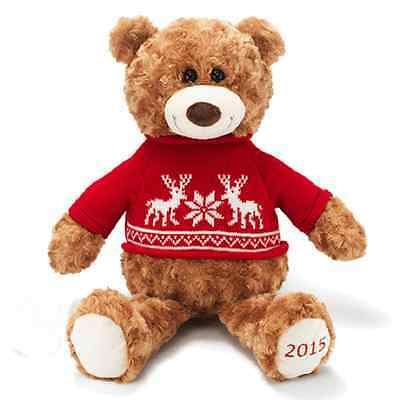 "Avon  Christmas  Collectible  2015  Plush  Teddy  Bear 14"" H"