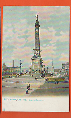 Indianapolis, Ind/ Soldiers Monument/ people/ non-linen postcard