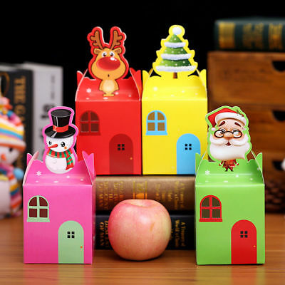 5/10Pcs Christmas Gift Box Present Wedding Favour Party Chocolate Candy Gifts