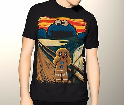 Monster of Cookies T Shirt | Kids - Mens 6XL | Cookie Monster Mashup Funny Joke