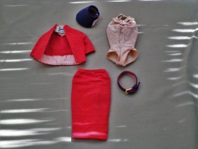Vintage Barbie Busy Gal Dress Set With Hat And Belt