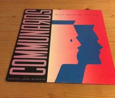 """The Communards With Sarah Jane Morris – Don't Leave Me This Way, 12"""", LONX 103"""