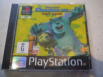 "Play Station 1  Game ""Monsters Inc. Scare Island"""