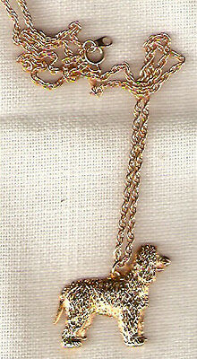 "Irish Water Spaniel Gold Plated Necklace Pendant with 20"" chain Jewelry"