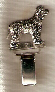 Irish Water Spaniel Nickel Silver Ring Clip Pin Jewelry