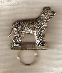 Irish Water Spaniel Nickel Silver Eye Glass Holder Pin Jewelry