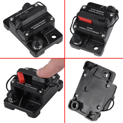 DC12V-42V 50A-300A Car Stereo Audio Inline Manual Reset Circuit Breaker DH