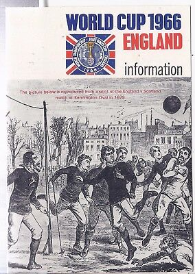 1966 Football World Cup fold out Information brochure with envelope