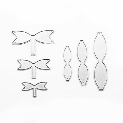 6PCS DIY Bow Making Metal Cutting Die Card Making Scrap booking Diary Embossing