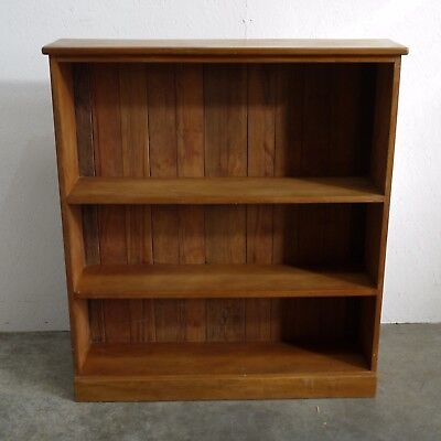 Vintage Solid Pine Three Tier Open Bookcase/ Shelving Unit  (245)
