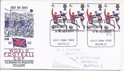 GB 1966 Football World Cup Final three covers with stamps x 4