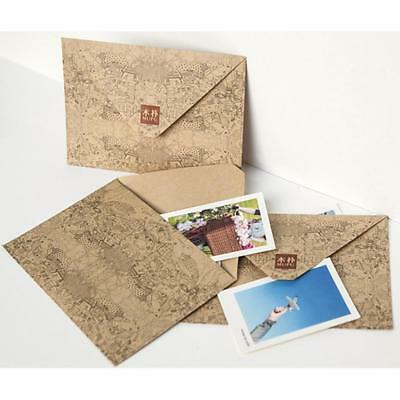 10Pcs Vintage Retro Kraft Paper Envelope Business Festival Xmas Greeting Card