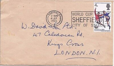 GB 1966 Football World Cup Sheffield slogan cover