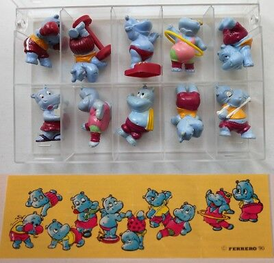 Kinder Surprise Ferrero Figures Sport Hippo Fitness Gym Cake Toppers +1 Paper