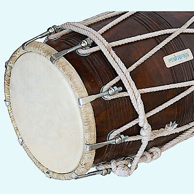 Beautiful Dholak (Dholki), Wood with Tuning Spanner (PDI-BBC) MI 07