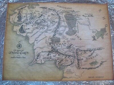 Lord of The Rings Lotr Middle Earth Map The Hobbit