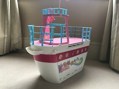 Barbie Sisters Cruise Ship Boat Yacht Water Slide Dolphin Pool