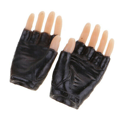 3pcs 1//6 scale Female Black Gloved Hands for 12/'/' Female Body Doll Accessory