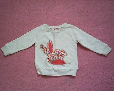 """Girls """"Next"""" Beige/Multi Floral Novelty Bunny Top for Age 18-24 months"""