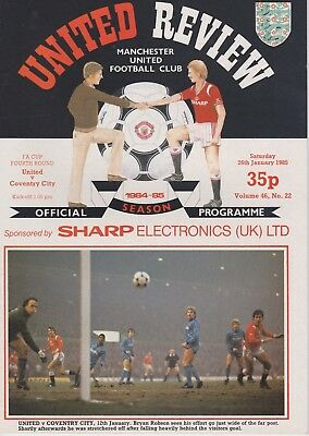 MANCHESTER UNITED v COVENTRY CITY ~ FA CUP 4TH ROUND ~ 26 JANUARY 1985