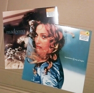 MADONNA Ray Of Light BLUE Like A Virgin CLEAR VINYL LP SEALED RARE