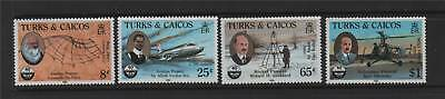 Turks & Caicos 1985 Aviation Pioneers SG 834/7 MNH