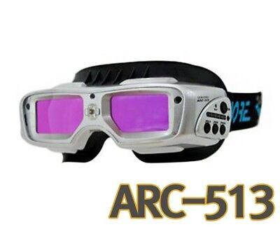 Servore ARC-513 Auto Shade Welding Goggles with Protective Face Shield [Silver]