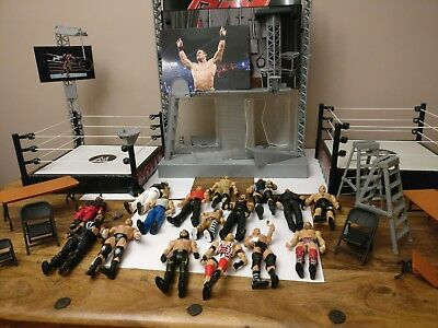 WWE bundle, 2 rings, entrance, 16 wrestlers and accessories!