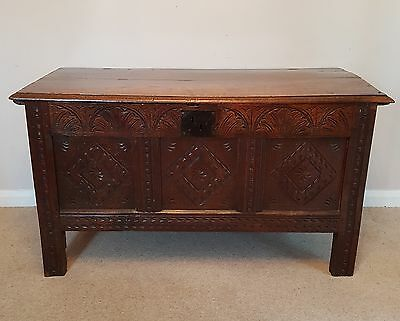 Antique 18th Century Oak Coffer / Chest