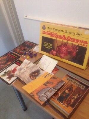 Dungeons And Dragons The Complete Starter Set Vintage Game Collectible Complete