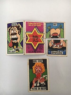 1973 Scanlens Fantastic Twister Cards #12 (detached) & #42 (part missing)