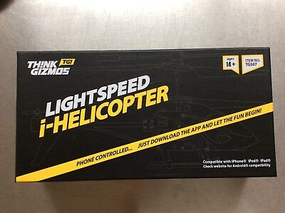 Think Gizmos TG507 Lightspeed i-Helicopter Phone Controlled Flying Gadget Lights