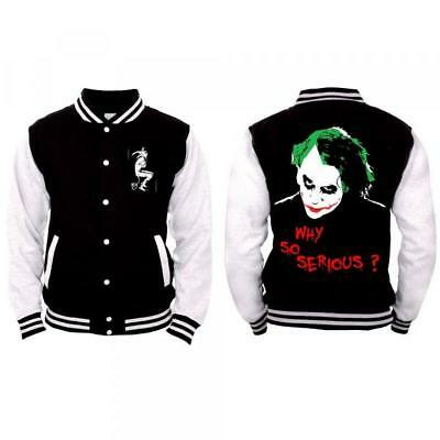 T-Shirt Joker - Why So Serious? (Giacca College Unisex Tg. L)